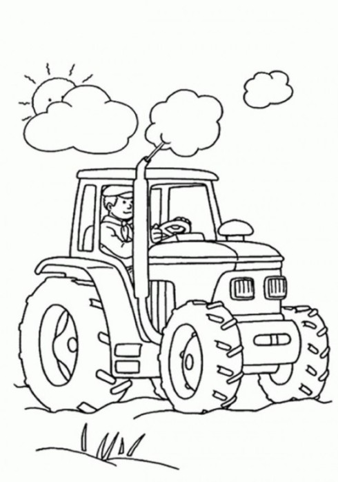 tractor coloring page picture